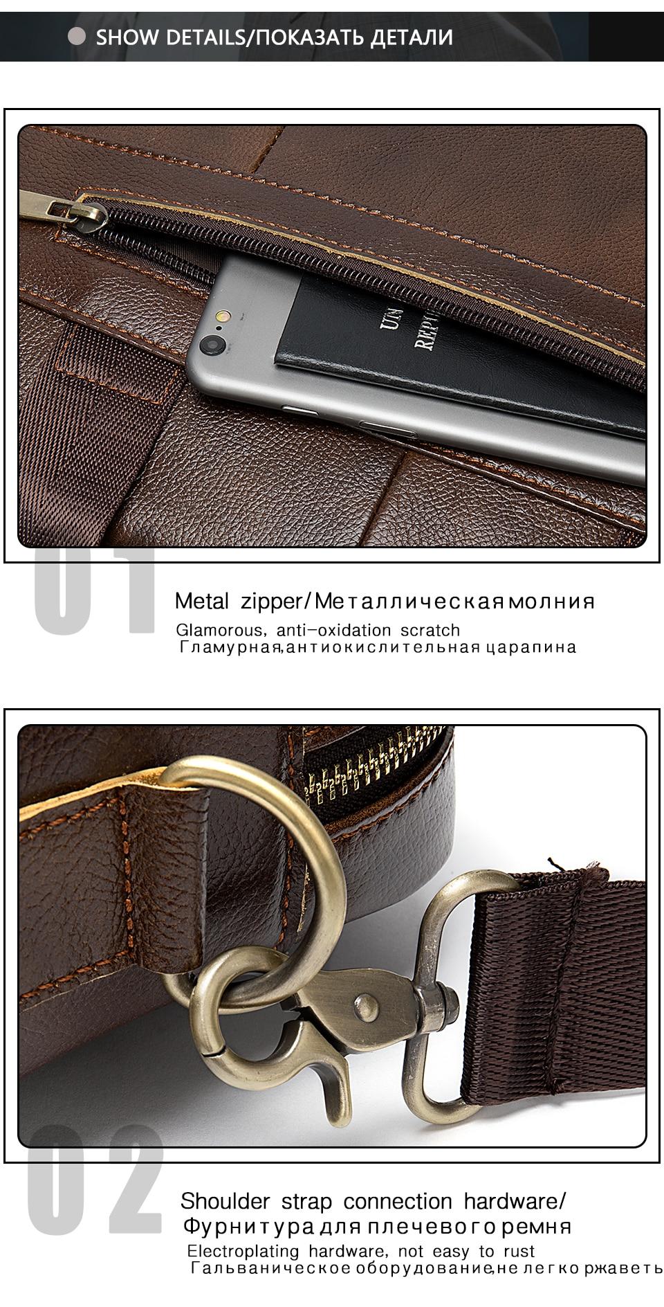 HTB1Q33zaV67gK0jSZPfq6yhhFXa5 WESTAL Bag men's Genuine Leather briefcase Male man laptop bag natural Leather for men Messenger bags men's briefcases 2019