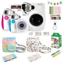 Fujifilm Instax Mini 7s appareil Photo à Film instantané et accessoires, y compris Mini Film, étui, Album Photo, Selfie téléobjectif etc.
