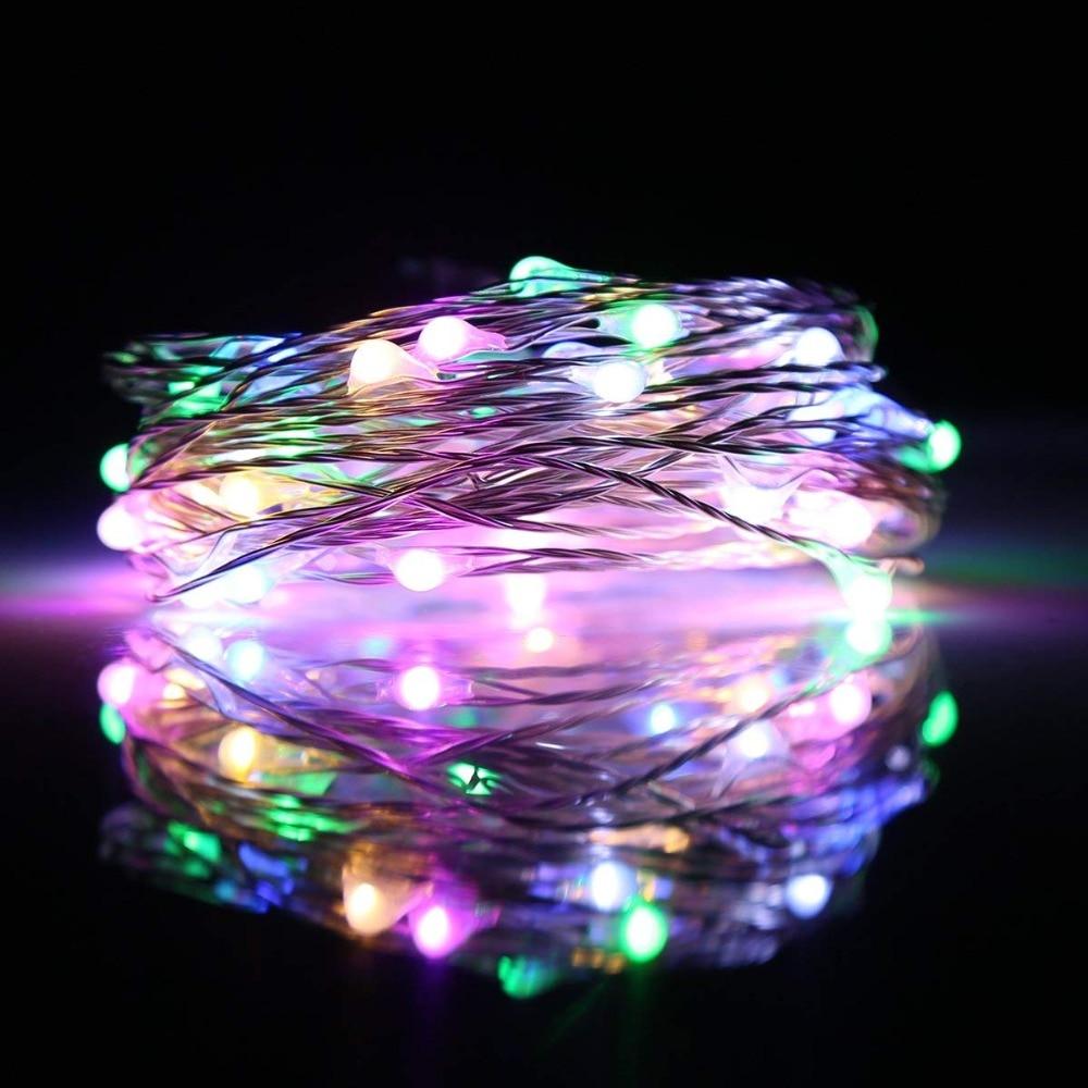 5V USB-strängledd lampor 10M 33ft 100-ledad utomhus utomhus Varm vit - Festlig belysning - Foto 3