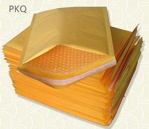 Image 2 - Offre spéciale 30 pièces jaune Kraft mousse enveloppe sac différentes spécifications Mailers rembourré expédition enveloppe avec bulle sac dexpédition