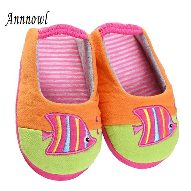 97becae81f4ef Enfant en bas âge bébé pantoufles enfants chaussures pour filles mignon  dessin animé poisson intérieur Rubble