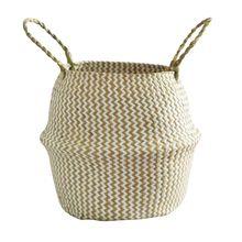 Складной ручной работы плетеный Плетеный контейнер для хранения вещей для косметики грязная одежда