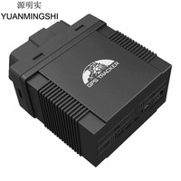 YUANMINGSHI New GPS GSM GPRS Tracking OBD Vehicle Tracker Google SMS Real time Tracking 2.4G Attendance Management