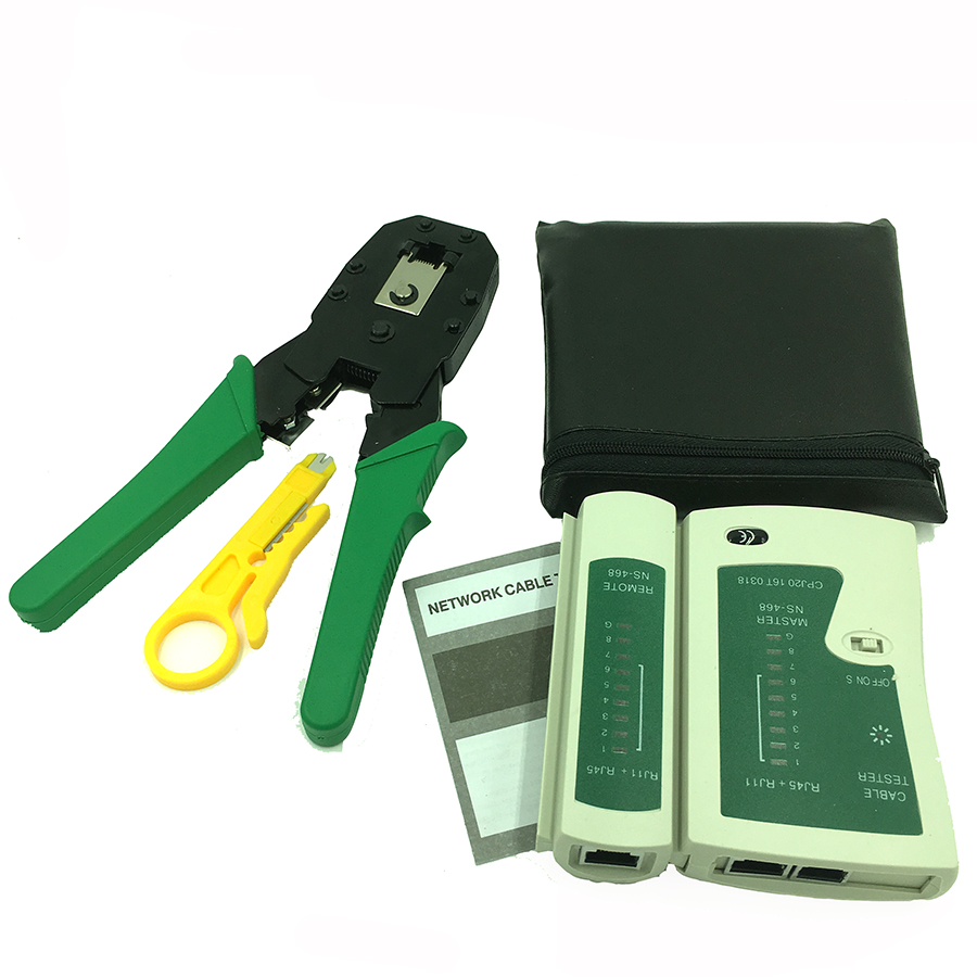 Cat 5 Tester : Network cable clamp pliers stripping crimping