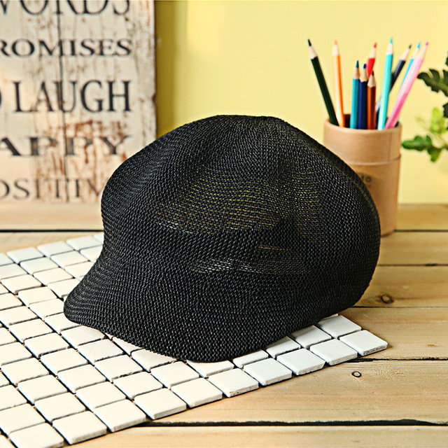 Women's Straw Knit Hat Breathable Sun Cap Summer Hat Knit Hats Visor Women Leisure Caps