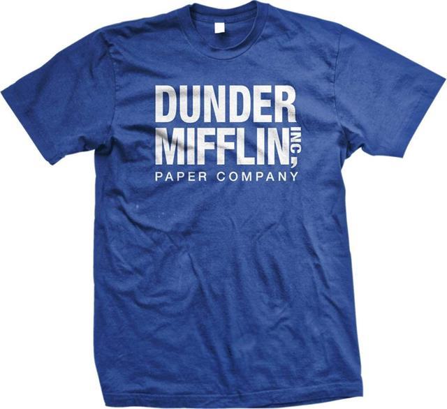 de06cf4b7c01 The Office TV Show Dunder Mifflin Paper Men's Royal Blue T Shirt-in ...