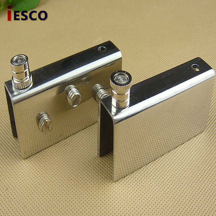 Large stainless steel glass cabinet folder glass hinge ...