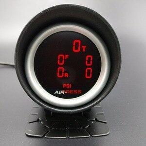 Image 3 - 2 polegada 52mm lcd cinco pressão ar calibre barra psi ar suspensão passeio de ar com 5 peças sensores elétricos