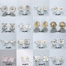 Chereda  Flower Shape Stud Earring Female Classic Earrings Set Wedding Party Minimalism stud Ear Wholesale Jewelry