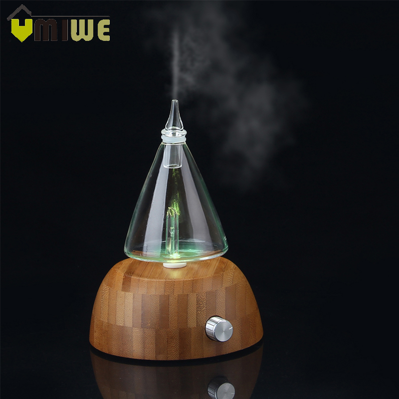 Glass Reservoir Nebulizing Pure Essential Oil Aromatherapy Diffuser, Auto Shut Off/ LED Light Aroma Humidifier For Home Office