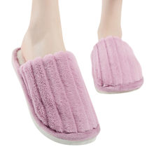 solid color indoor non-slip warm home cotton slippers Pink Shoes Harajuku Kawaii Fashion Platform Sandals Ladies couple drop(China)