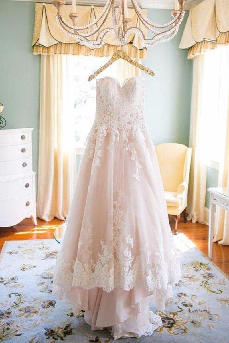 Country Wedding Dress 2019 Lace Appliques Bridal Wedding Gowns Plus Size vestido de noiva Wedding Party Dress robe de mariee New