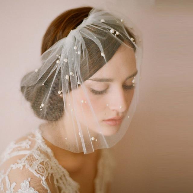 Elegant Wedding Net Veil One-Layer White Women Short Bridal Veils Birdcage Face Bridal Fascinator Accessories Veu De Noiva