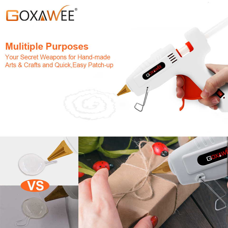 Image 4 - GOXAWEE 34pcs Hot Melt Glue Gun Set Mini Electric Professional DIY High Temp Heat Melt Repair Tool With Hot Melt Glue Sticks-in Glue Guns from Tools on