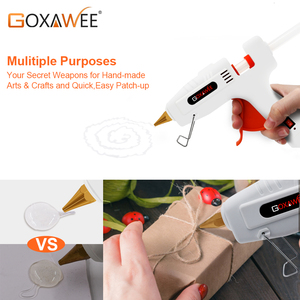 Image 4 - GOXAWEE 34pcs Hot Melt Glue Gun Set Mini Electric Professional DIY High Temp Heat Melt Repair Tool With Hot Melt Glue Sticks