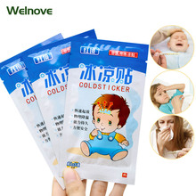 10bags Cooling Patches Adult Baby Fever Down Medical Plaster Migraine Headache Pad Lower Temperature Ice Gel Polymer Hydrogel