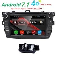 Автомагнитолы 2 din Android 7,1 dvd-плеер автомобиля для Toyota corolla 2008 2007 2009 2010 2011 Мультимедиа Штатная навигация gps wi-Fi