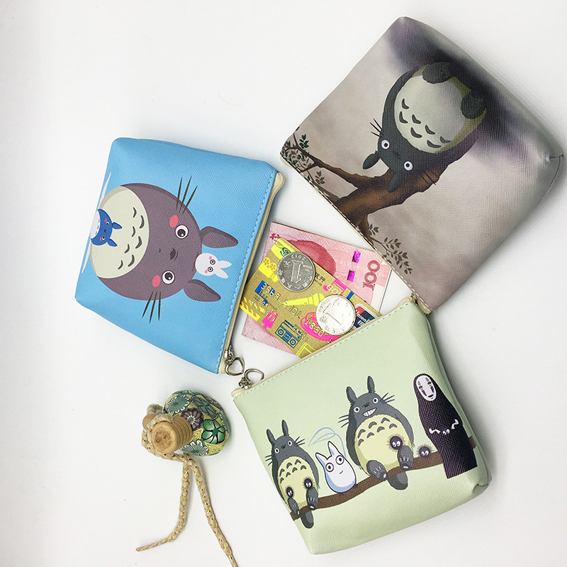 Key Bag Cosmetic Bag/ Cute Coin Mini Wallet/storage Bag Reasonable Price Hard-Working Free Ship!1lot=12pc!new Totoro Cartoon Coin Purse