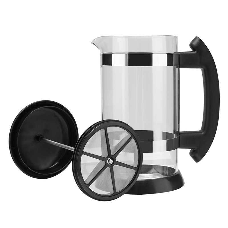 Новинка-кофейник, френч-пресс/Чай заварник кофеварка, Кофе чайник 1000 мл Нержавеющаясталь Стекло для Кофе посуда для напитков