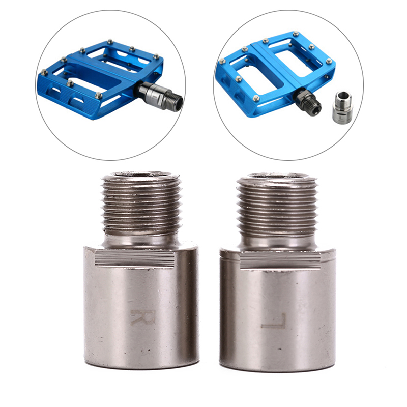 Bike Bicycle Pedal Extender 9//16/'/' Cranksets 20mm Bicycle Pedal Spacers 1 Pair