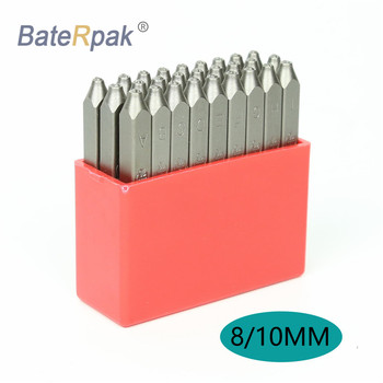 8/10MM English Alphabets Standard font style BateRpak letters steel punch stamp,(A-Z and & )  27pcs/box 3 8 10mm letter steel stamp die punch set a z 27 pcs part codes