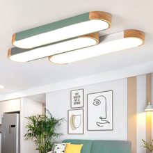 Modern Led Hanging Ceiling Lights Surface for Study Living Room Aisle Kitchen Rectangle Color Ceiling Lamp Iron Nordic Japanese