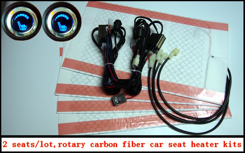 2017 new type The new car carbon fiber seat heater kits, carbon ...