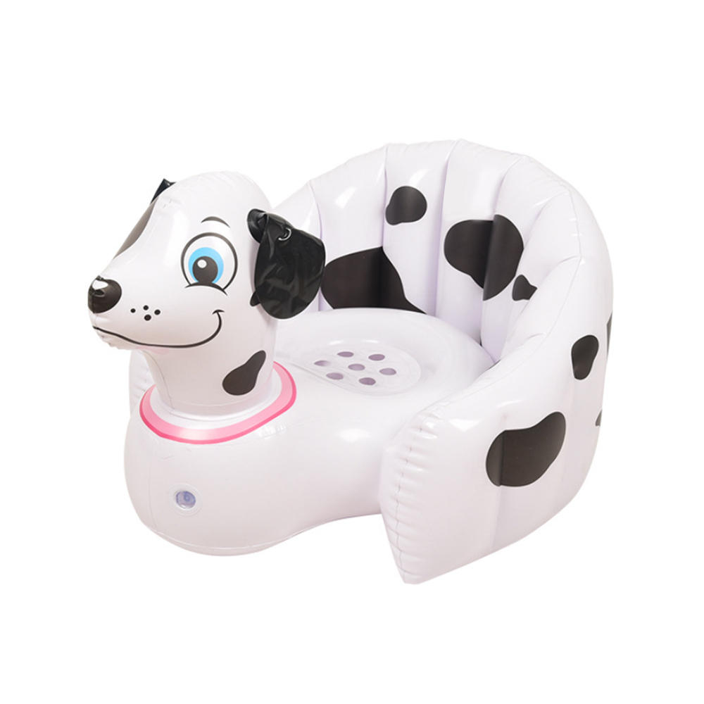 Baby Inflatable Chair 56*50*30cm Beach Bathroom Pool Sofa Chair Seat  Cartoon Portable Baby Seat For 3 M-5 T Baby