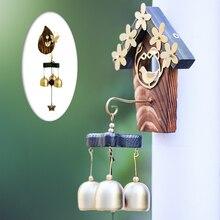 IdYllife садовые колокольчики для украшения двора, украшения для дома, уличные медные колокольчики, птичье гнездо, наружный ветряной Спиннер, металлический крыльцо, мелодичное