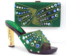 TH26 38 High heel with New design italian shoes and bags set with free shipping