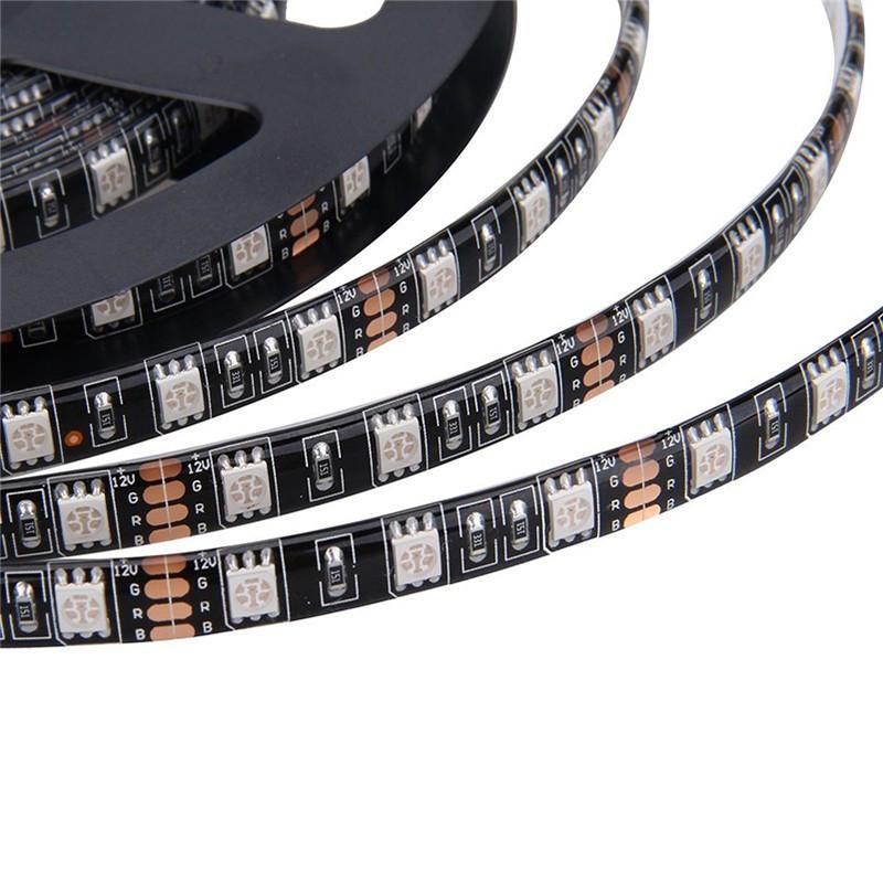 Black-PCB-5M-Led-Strip-Light-5050-RGB-300-Leds-Waterproof-IP65-DC12V-Flexible-LED-Car (2)
