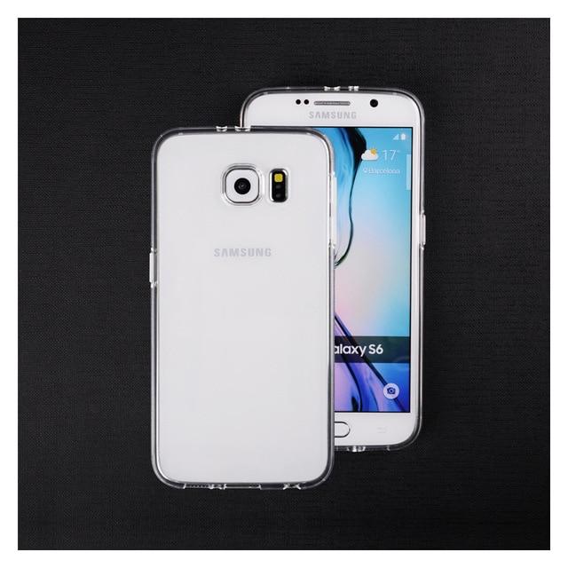 919c5c5204b Transparente funda de silicona para Galaxy S6 S7 borde suave gel TPU  cubierta ultra fino Teléfono