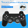 NYGACN NJP319 USB gamepad inalámbrico para PS3/PC/PC360 2.4G wireless conectar doble del juego del choque joystick mango Freeshipping