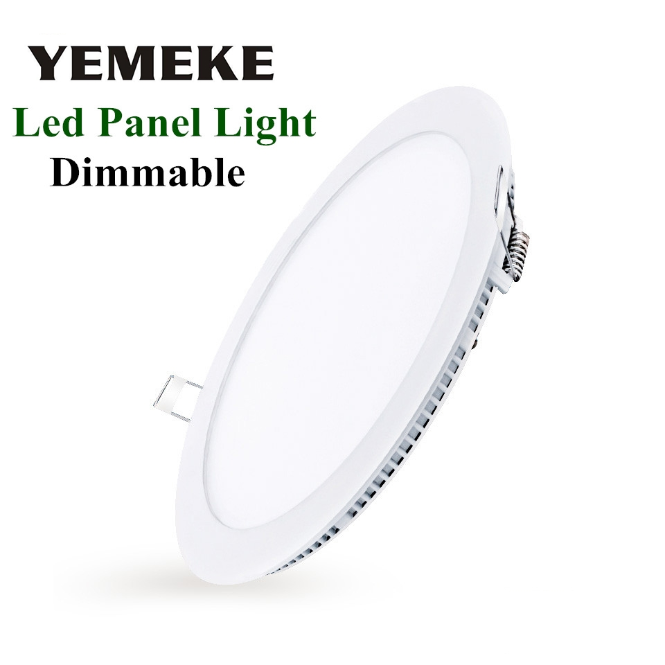 led panel light dimmable led downlight 3w 4w 6w 9w 12w 15w 18w led spot light 220v round led