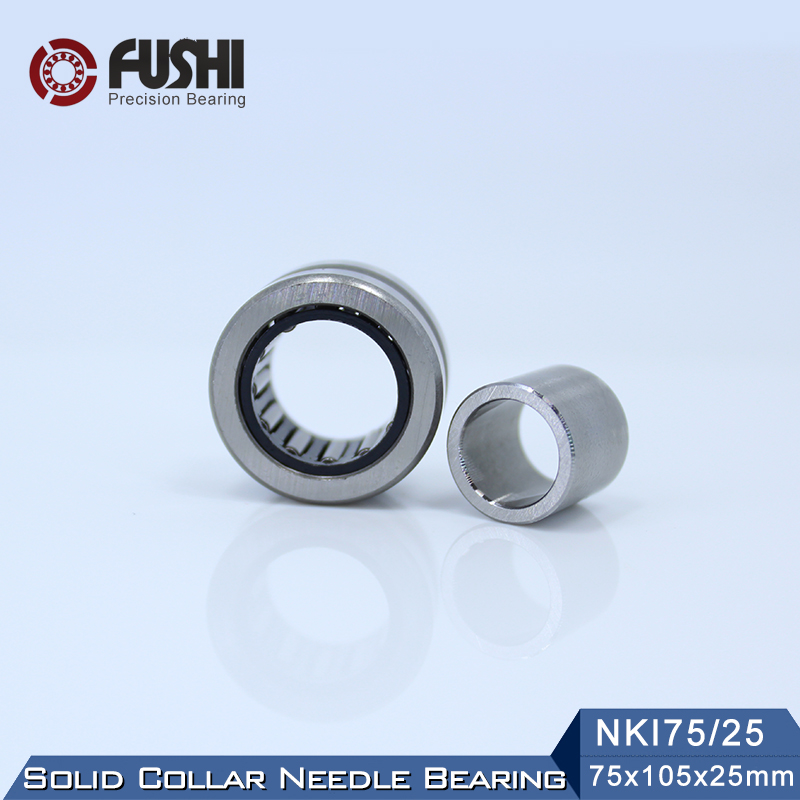 NKI75/25 Bearing 75*105*25 mm ( 1 PC ) Solid Collar Needle Roller Bearings With Inner Ring NKI 75/25 Bearing f2522 full complement needle roller bearings 942 25 the size of 25 32 22mm