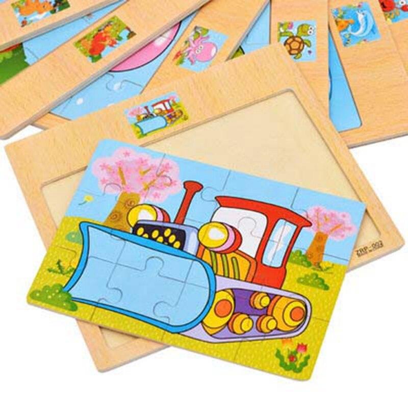 Транспорт деревянные обучения животных головоломки Дети Новое поступление для маленьких мальчиков головоломки раннего обучения подарок