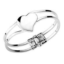 Envío Libre, 25 joyería de Plata, marca pulsera de Corazón Abierto, 925 Brazalete de Plata, Joyería Al Por Mayor SZ064