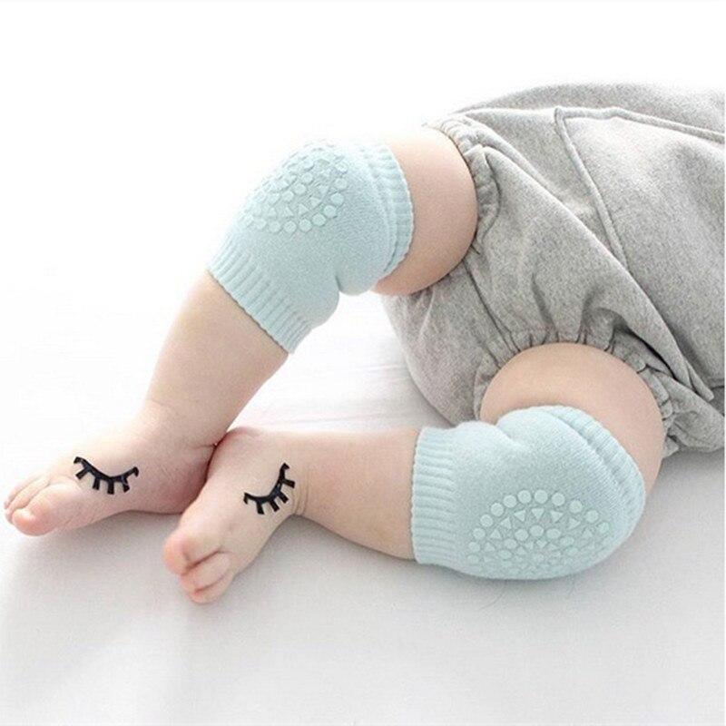 0-3 Years Old Kid Baby Knee Pads Kids Anti Slip Compression Crawl Knee Sleeve Unisex Kneecap Coverage Protector 1 Pair One Size