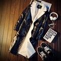 With velvet Slim Windbreaker male costume M-5XL size jacket blazer fashion black Leather jacket dancer prom show singer bar