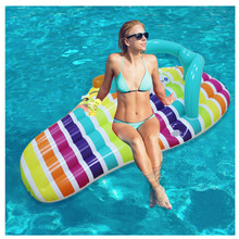 Inflatable Swimming Ring 150*75cm Big Pool Ring Float Boat PVC Water Bed Swimming Float Water Mattress Inflatable Lounge Chair 250x100cm pvc inflatable mat giant eggplant lounge float bed raft swimming pool toy