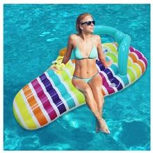 Надувной плавательный круг 150*75 см большой бассейн надувной круг лодка ПВХ водяная кровать поплавок водный матрас надувное кресло для отдыха