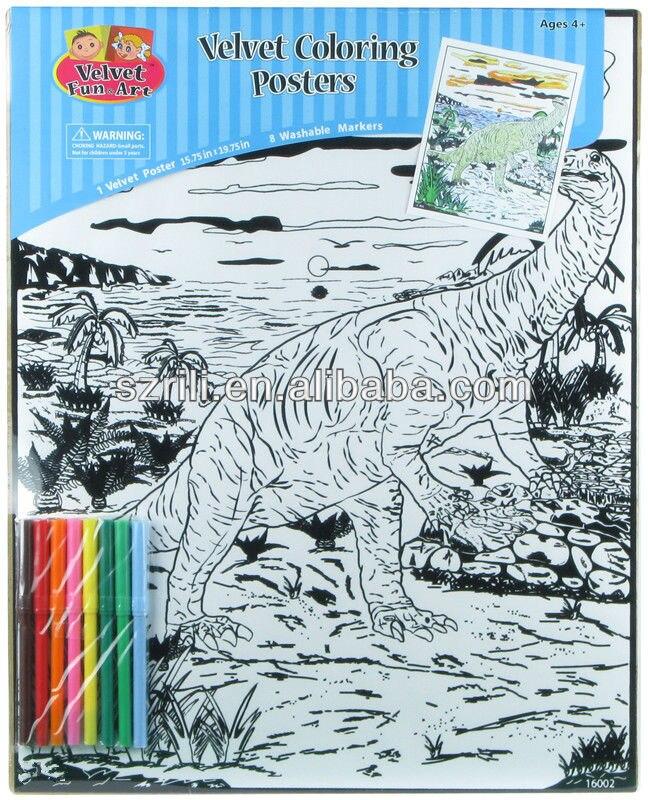Rili DIY velvet art posters to color 16\