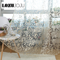 Free shipping modern rustic design jacquard organza tulle curtain fabric for window