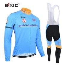 BXIO Синий Велоспорт Наборы с длинным рукавом велосипед одежда Ropa Ciclismo Hombre Verano дешевый велосипед одежда популярный BX-0109B016