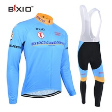 BXIO Blue Cycling Sets Long Sleeve Bike Clothing Ropa Ciclismo Hombre Verano Cheap Bicycle Clothes Hot Popular BX-0109B016