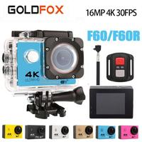 Goldfox 16MP 4K 30FPS Action Camera 30M Go Diving Pro Waterproof Wifi Sport DV Extreme Sports