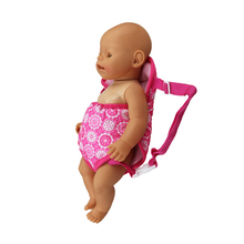 18-inch Doll Pink Backpack-carrier Accessories for My Little Baby-18/Life/Generation doll Outfit-Toys Girls Gift