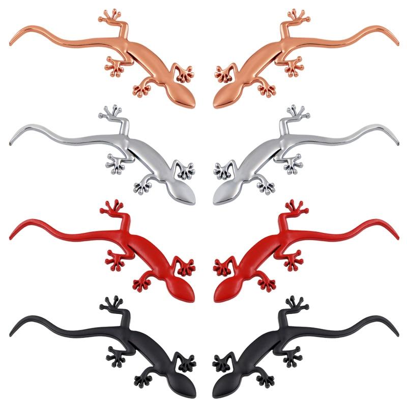 1pcs Car ABS Lizard Gecko Badge Car Styling For Audi A4 A3 A5 Q3 Quattro TT S3 S5 RS3 RS4 Stickers Decorative Car Accessories