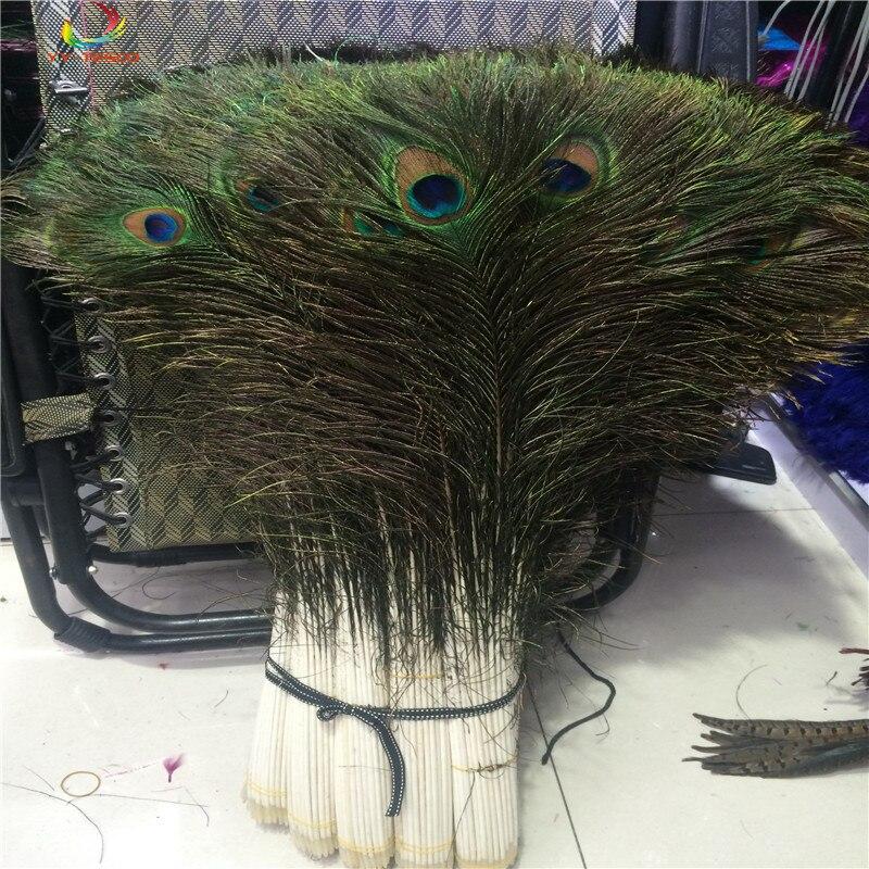 En gros 500 pièces belle naturel couleur paon plume 80-90 cm/32-36 pouces décoratif célébration étape performance plumes