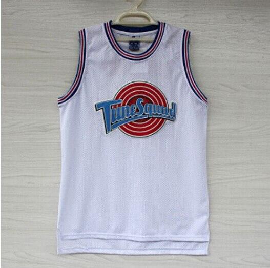 b170e289f211 Michael Jordan 23 Space Jam Jersey Basketball Jerseys Tune Squad Jersey  LOONEY TOONES New REV 30 Embroidery Logos